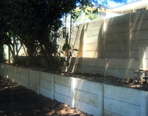 3-tier precast concrete retaining walls